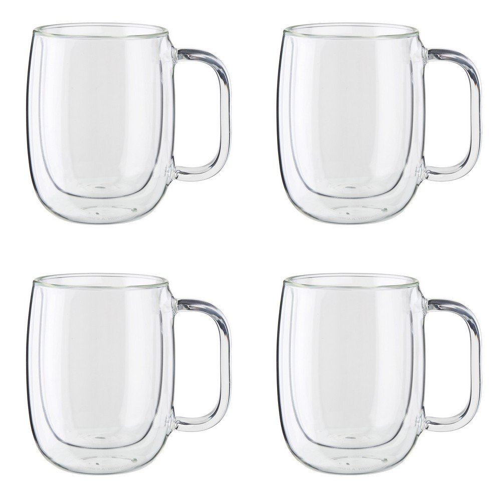 ZWILLING J.A. Henckels 39500-101 Coffee Mug Set, 12 oz, Clear