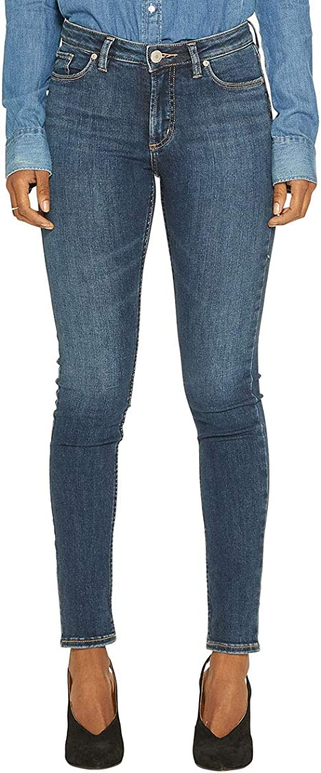 Womens Standard Womens Bleecker Slim Fit Mid Rise Jeggings Silver Jeans Co