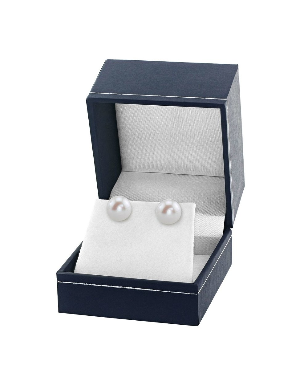 THE PEARL SOURCE 14K Gold 10-11mm AAA Quality Round White Freshwater Cultured Pearl Stud Earrings for Women by The Pearl Source (Image #3)