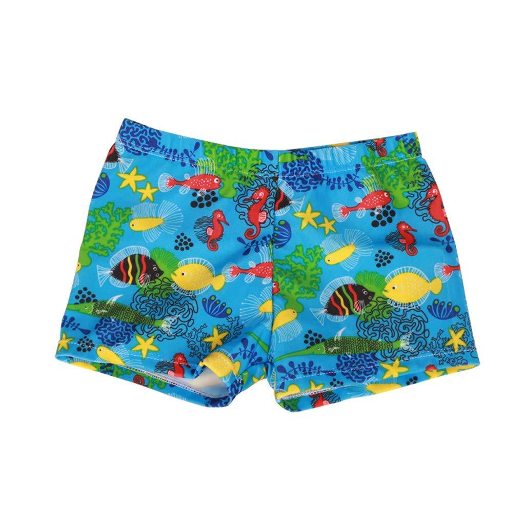 Luonita Toddler Baby Boy Swimwear Summer Print Swimwear Shorts Pants for Outdoor Activities Light Blue