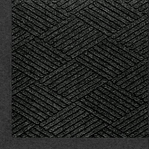 M+A Matting 2297 Waterhog Eco Premier Fashion PET Polyester Fiber Indoor/Outdoor Floor Mat, SBR Rubber Backing, 3' Length x 2' Width, 3/8