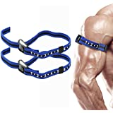 """Occlusion Training Bands by BFR Bands PRO SLIM Model, 2 Pack, Blood Flow Restriction Bands with 1"""" Width - Comfort Wrapped Metal Buckle, Extra Thick Elastic, Multiple Patents Pending"""