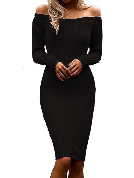 Bodycon Mujer Stretch Fuera Hombro Del Punto Blooming Negro Jelly De Yby7v6fg