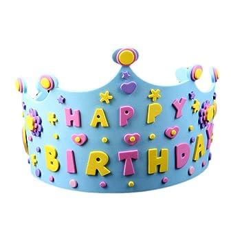 Amosfun Cumpleaños Corona Sombreros Bricolaje Feliz ...