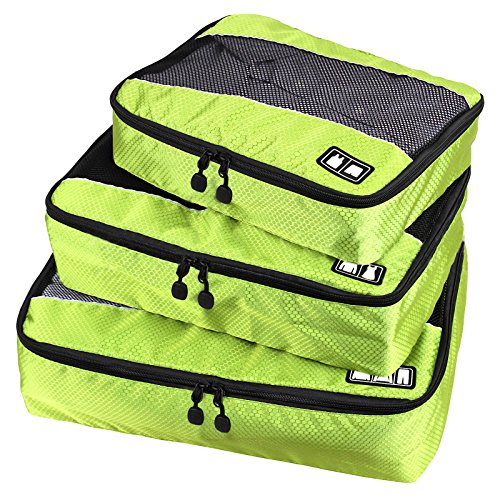 Travel Packing Organizers - Clothes Cubes Shoe Bags Laundry Pouches For Suitcase Luggage, Storage Organizer 3 Set Color Green from TRAVELIN