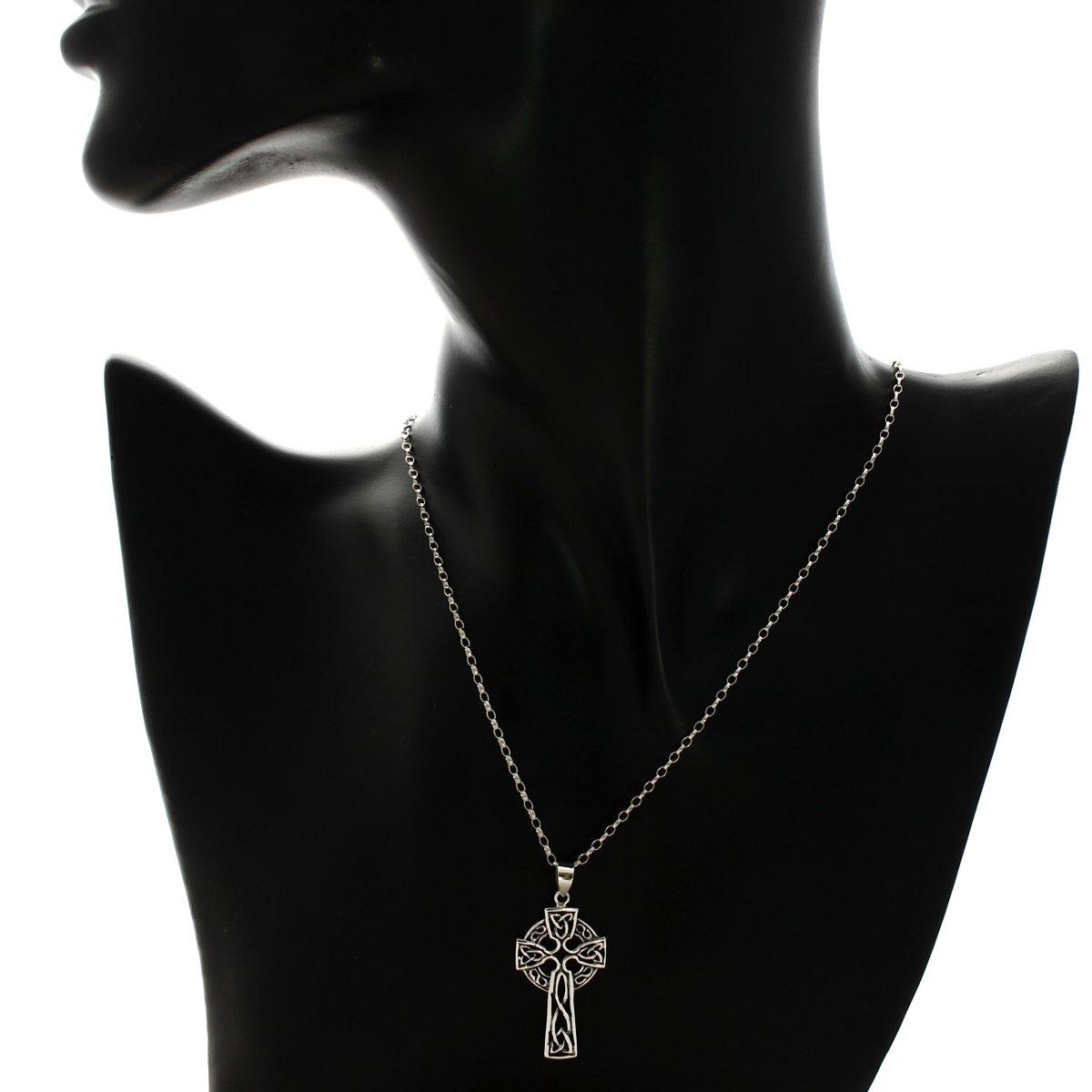 edb53cfff42 Pendentif Croix Celtique en Argent Massif avec Chaîne de 45cm