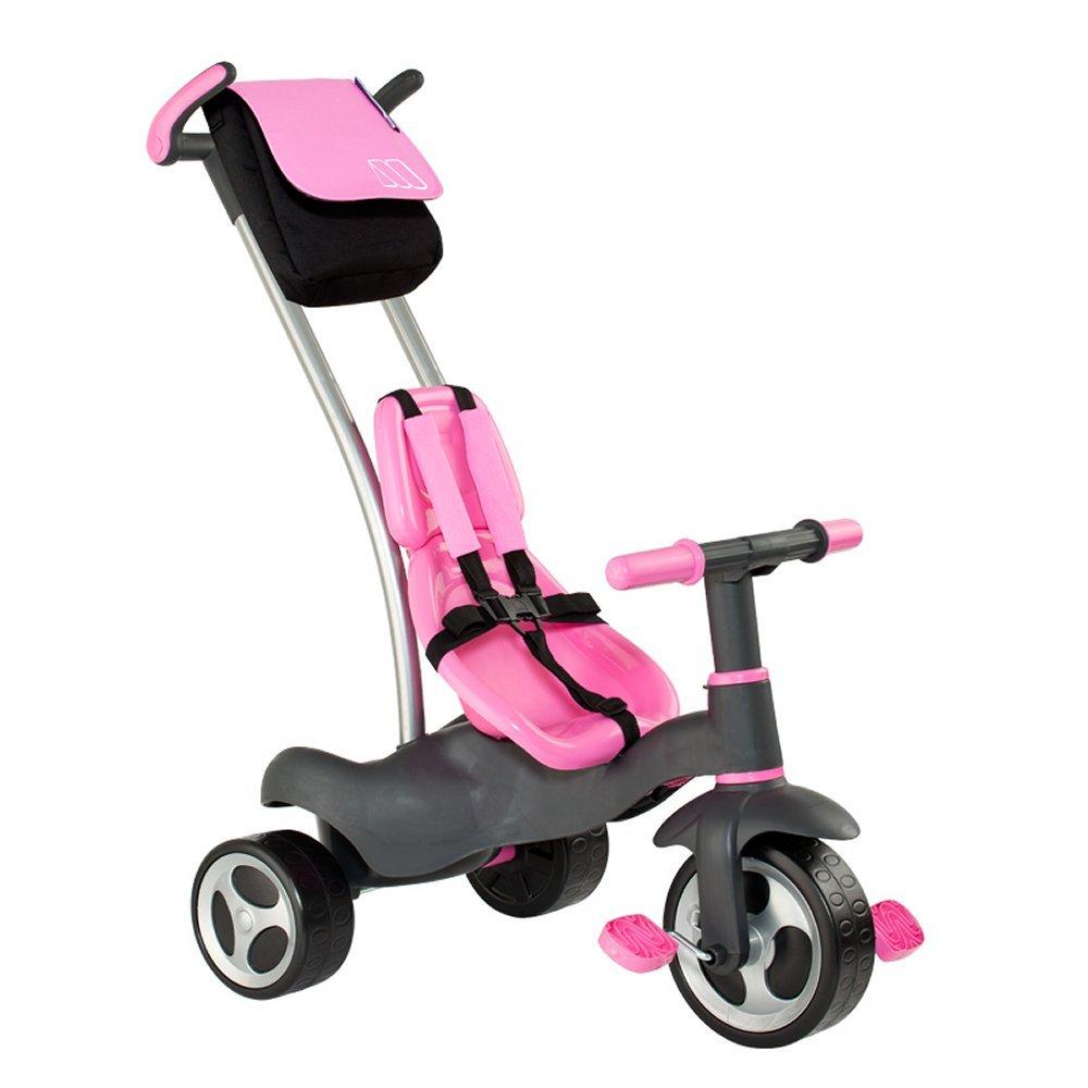 Moltó - Triciclo con cinturones y bolsa, color rosa (13213)