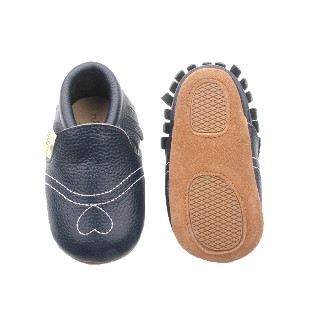 Liv /& Leo Baby Girls Moccasins Soft Sole Crib Shoes Slip-On 100/% Leather Heart Collection