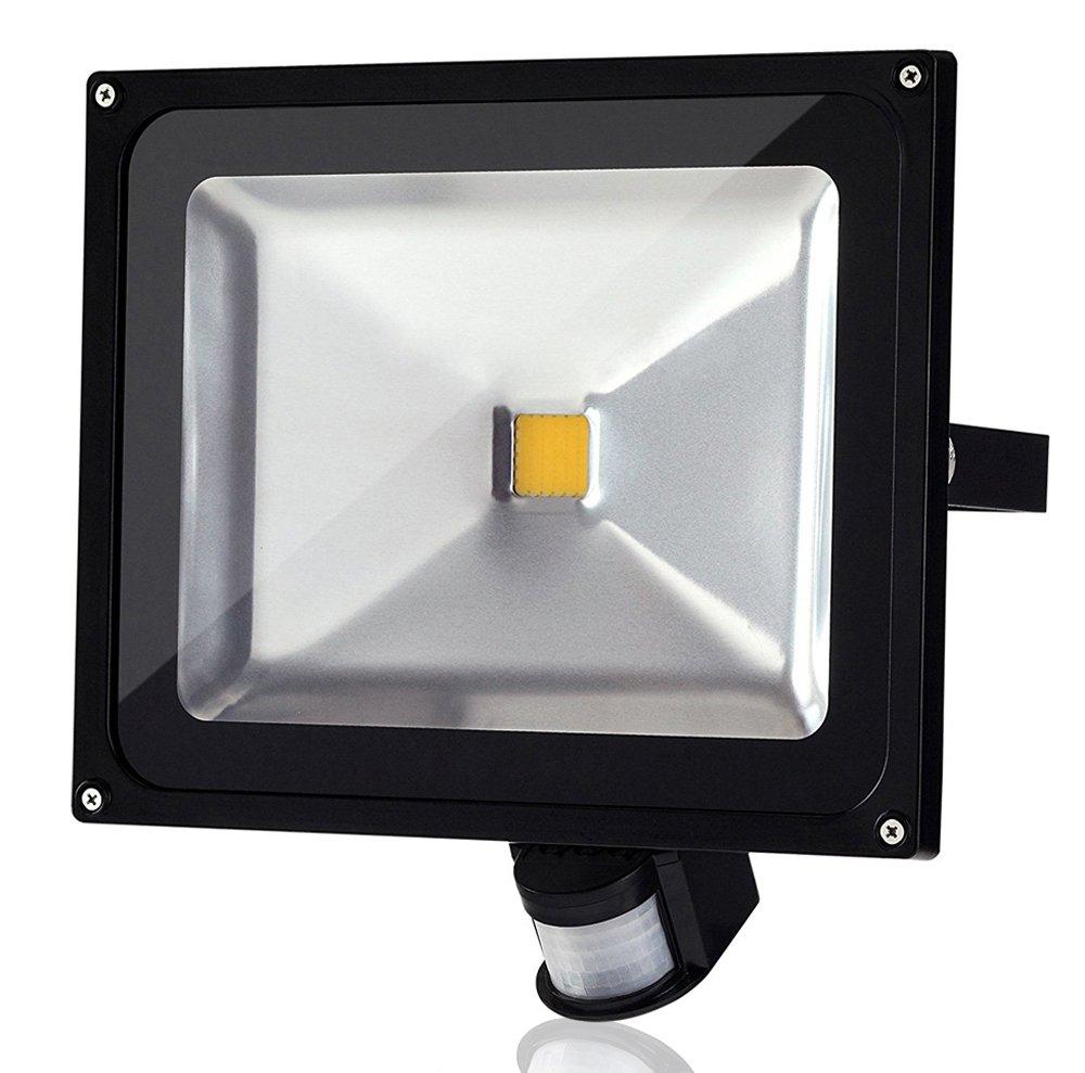 ALPHA DIMA 50W Foco LED con Sensor Movimiento Foco Exterior LED Con Sensor Proyector LED Exterior IP65 Resistente al Agua(Blanco Cálido): Amazon.es: ...