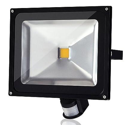 ALPHA DIMA 50W Foco LED con Sensor Movimiento Foco Exterior LED Con Sensor Proyector LED Exterior