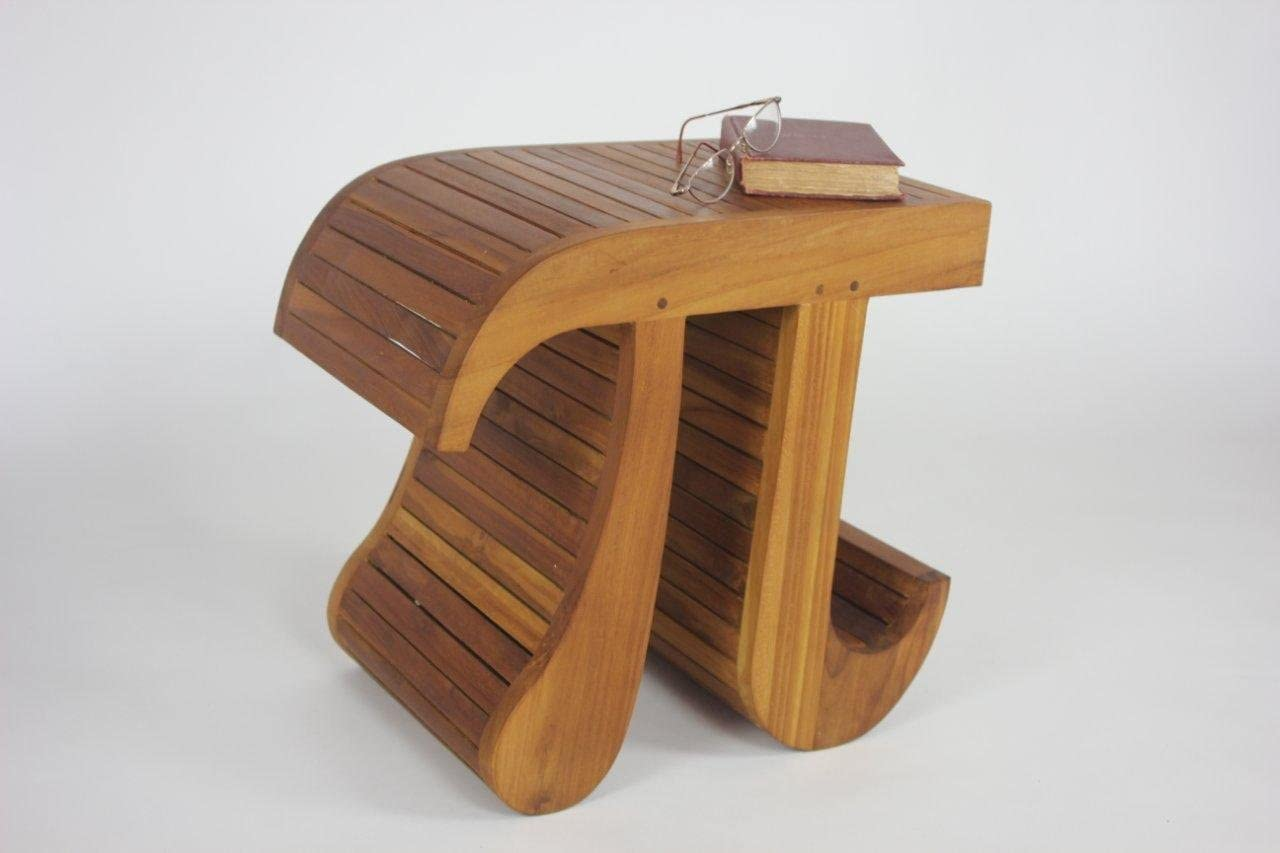 AquaTeak Patented Pi-Shaped Teak Bench