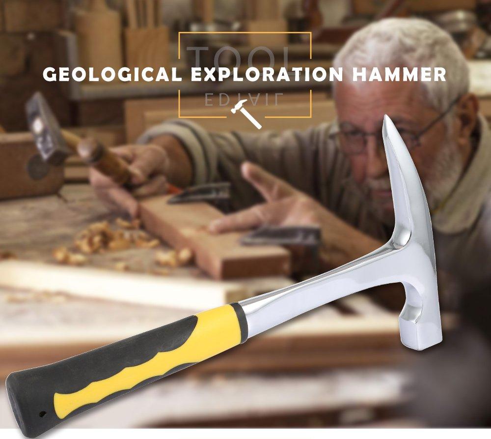 Enqu/ête mine Outil dexploration marteau de ma/çon G/éologie Marteau Marteau de g/éologue G/éologie outils Fournitures G/éologiques Marteau Rock Pick