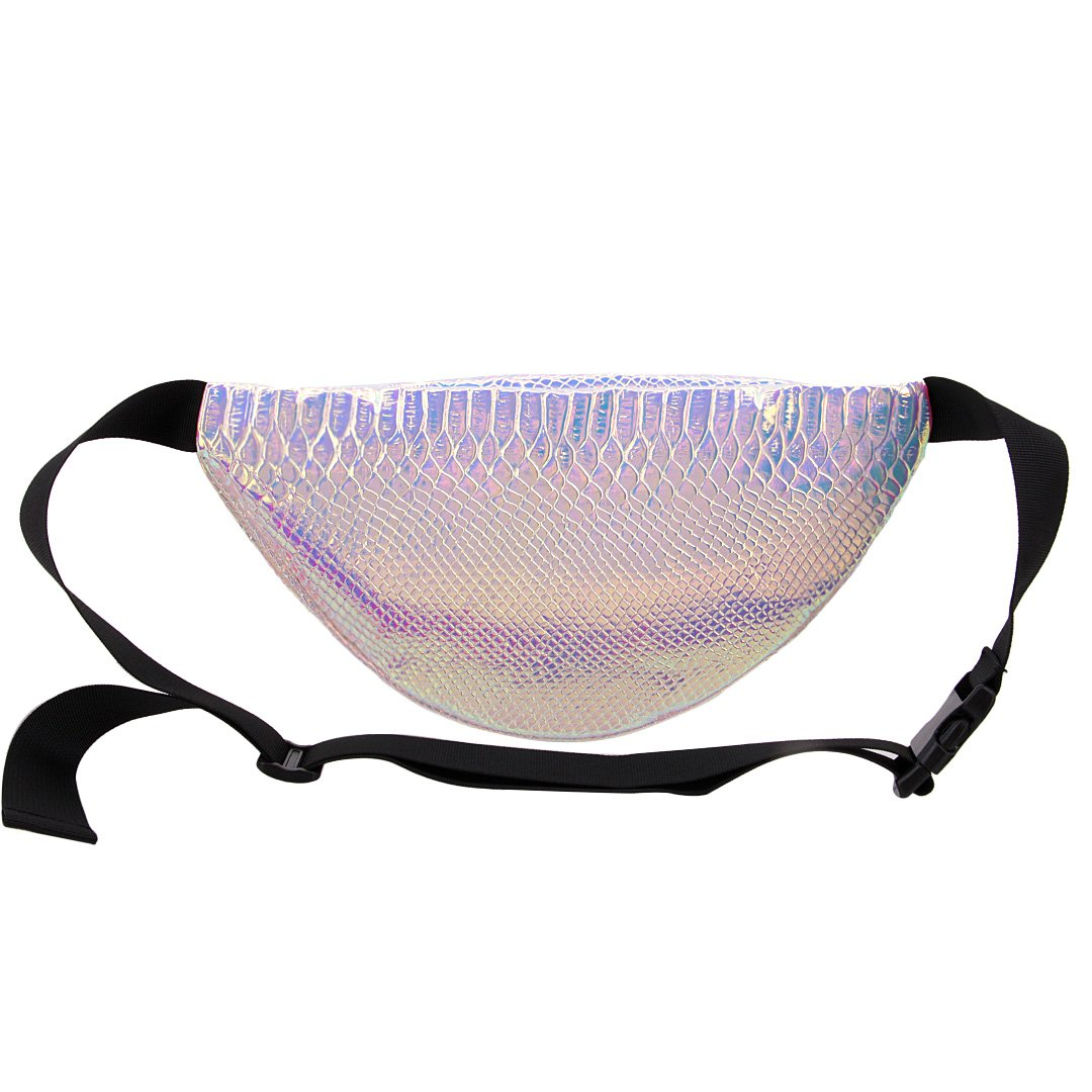 Naimo Waterproof Holographic Laser Fanny Pack Bum Bag Purse Waist Bag (Laser Purple) by Naimo (Image #1)