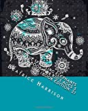Beautiful Sparkling Elephants Coloring Book: For Kid's Ages 5 to 17 Years Old (Book Edition: 2): Includes Elephants, Birds, Butterflies, Cats, Dogs and More Animals