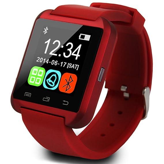 BYD U8 Bluetooth Smart Watch Inteligente Reloj Teléfono Compañero para Android IOS Iphone Samsung Galaxy HTC,Sony: Amazon.es: Relojes