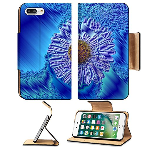 Luxlady Premium Apple iPhone 7 Plus Flip Pu Leather Wallet Case iPhone 7 Plus 20178370 single blossom colorful modern abstract set in scene