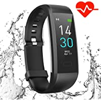 Showyoo Fitness Tracker with Heart Rate Monitor, Colour Screen Smart Watches Sports Activity Tracker Watch, IP68 Waterproof Pedometer Watch with Sleep Monitor, Calorie Step Tracker for Kids Women Men