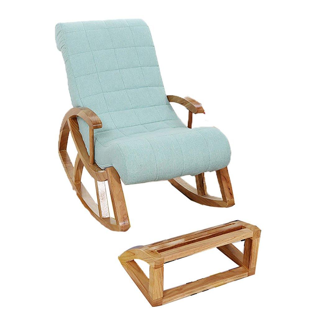 Faules Sofa Lounge Chair Schaukelstuhl Abnehmbare Und Waschbare Schlafzimmer Liegestuhl Happy Hocker Balkon Siesta Old Man Recliners Massivholz (Farbe   Braun) Blauer Himmel