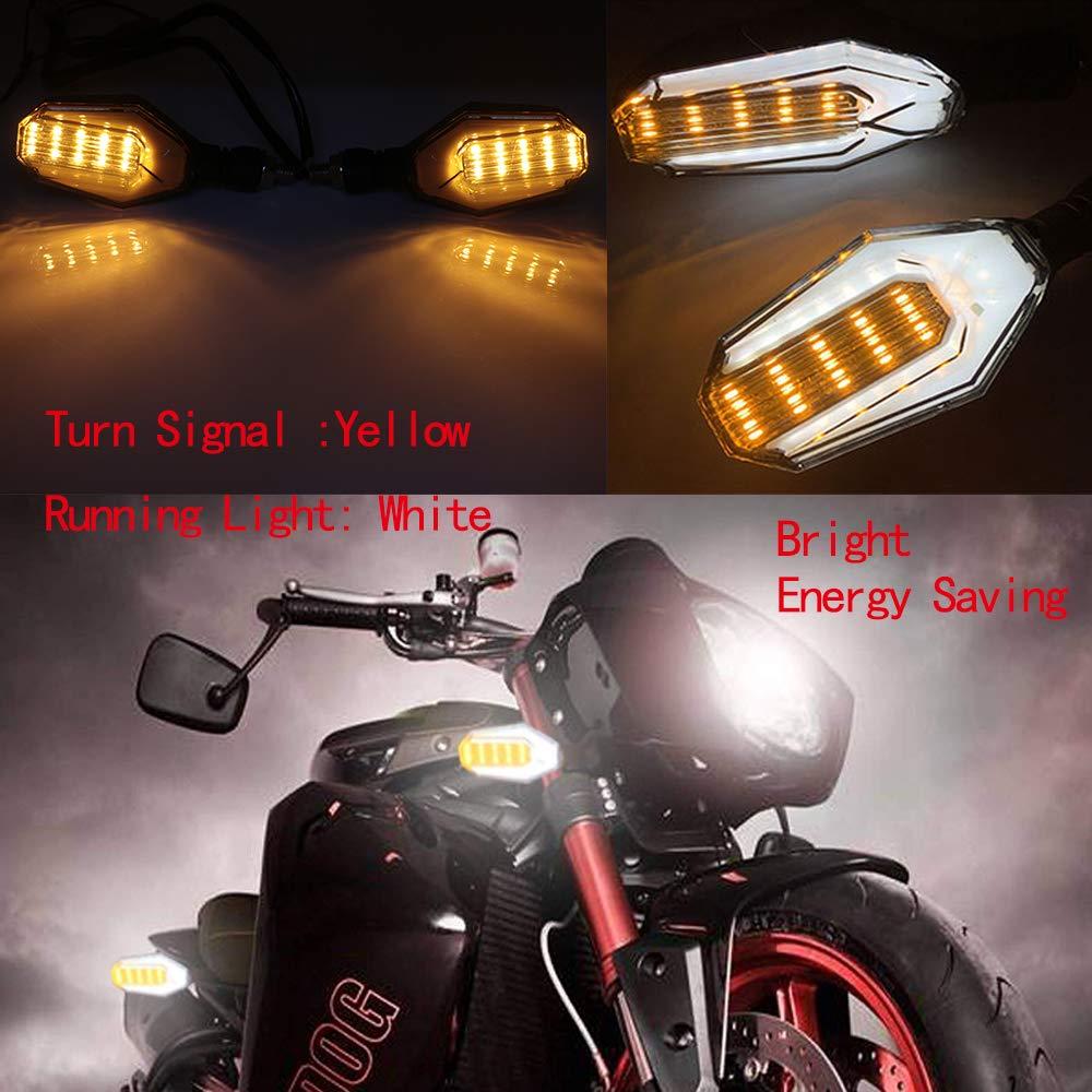 evomosa Universal Motorcycle 12 LED Turn Signal Lights Blinker Front Rear Lights Indicator for Motorbike Harley Cruiser Honda Kawasaki BMW Yamaha Suzuki Pairs