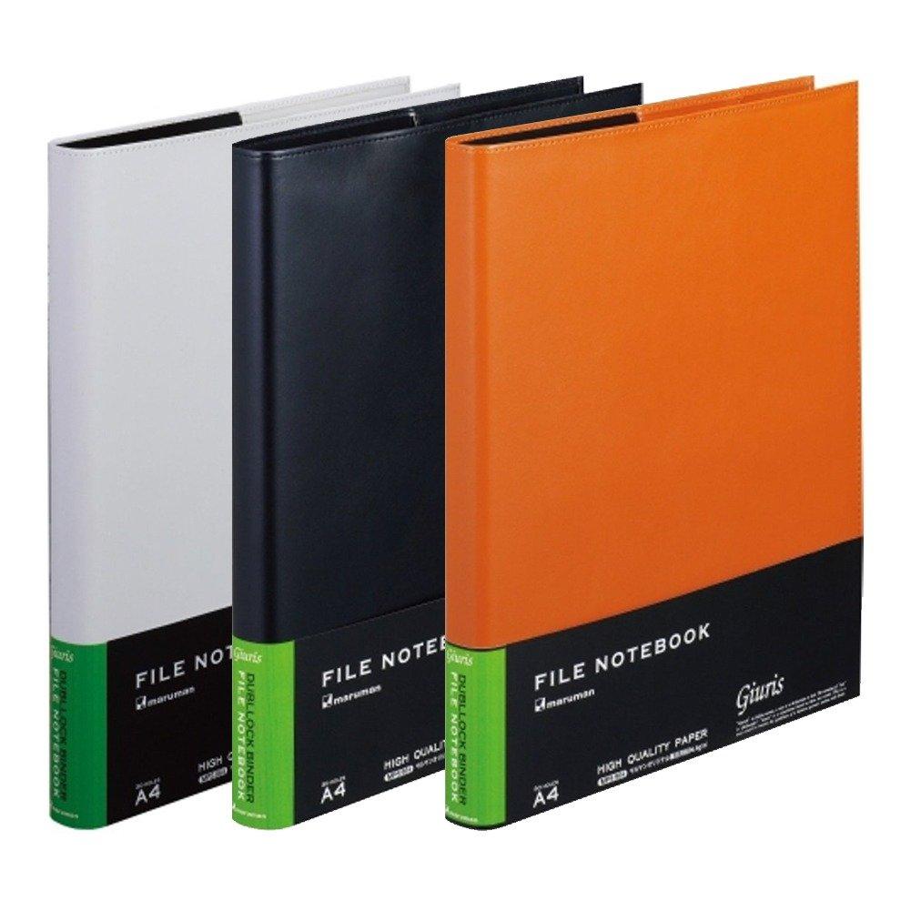 A5-20 Rings Maruman Giuris Cover File Folder Black