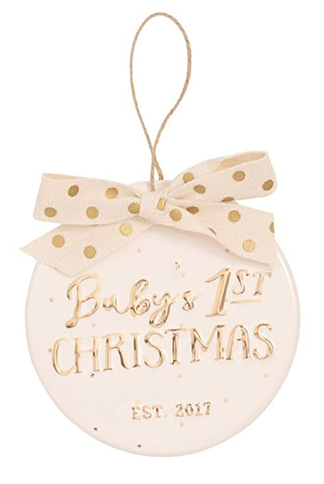 Mud Pie BABY 1ST CHRISTMAS GOLD CERAMIC ORNAMENT - Amazon.com: Mud Pie BABY 1ST CHRISTMAS GOLD CERAMIC ORNAMENT: Home