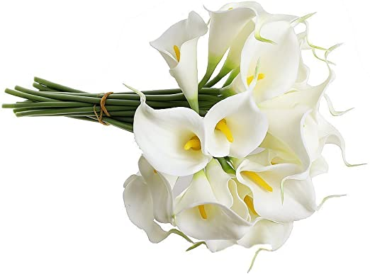 Amazon Com Supla Real Touch Calla Lily Artificial Silk Flower