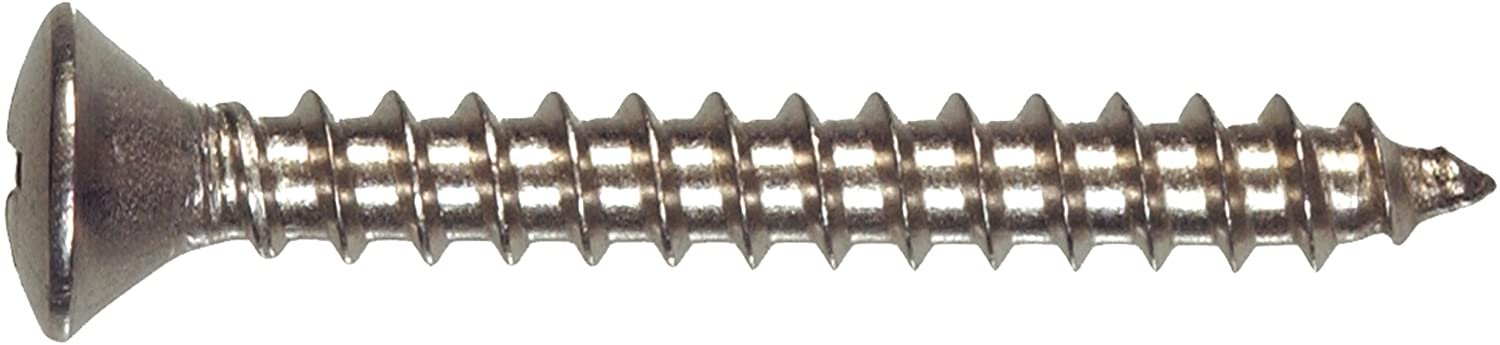 6-Inch x 2-Inch 100-Pack The Hillman Group 823632 Stainless Steel Oval Head Phillips Sheet Metal Screw