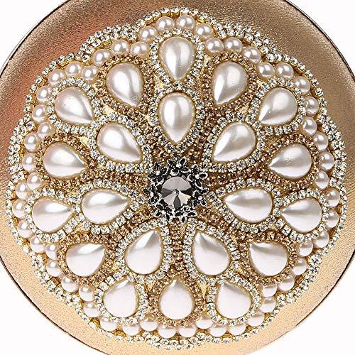 Redondas Creativo De Moda Silver Pequeñas Bolso Mujer Y Suave Sky grow color Para Embrague Noche Black Bolsas x81q477nwO