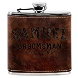 Best Weddings With Gift Boxes - Personalized Groomsmen Flasks, Groomsmen Gifts   6oz Leatherette Review