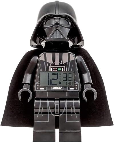 LEGO Star Wars Darth Vader Alarm Clock, Black, 9 Inches