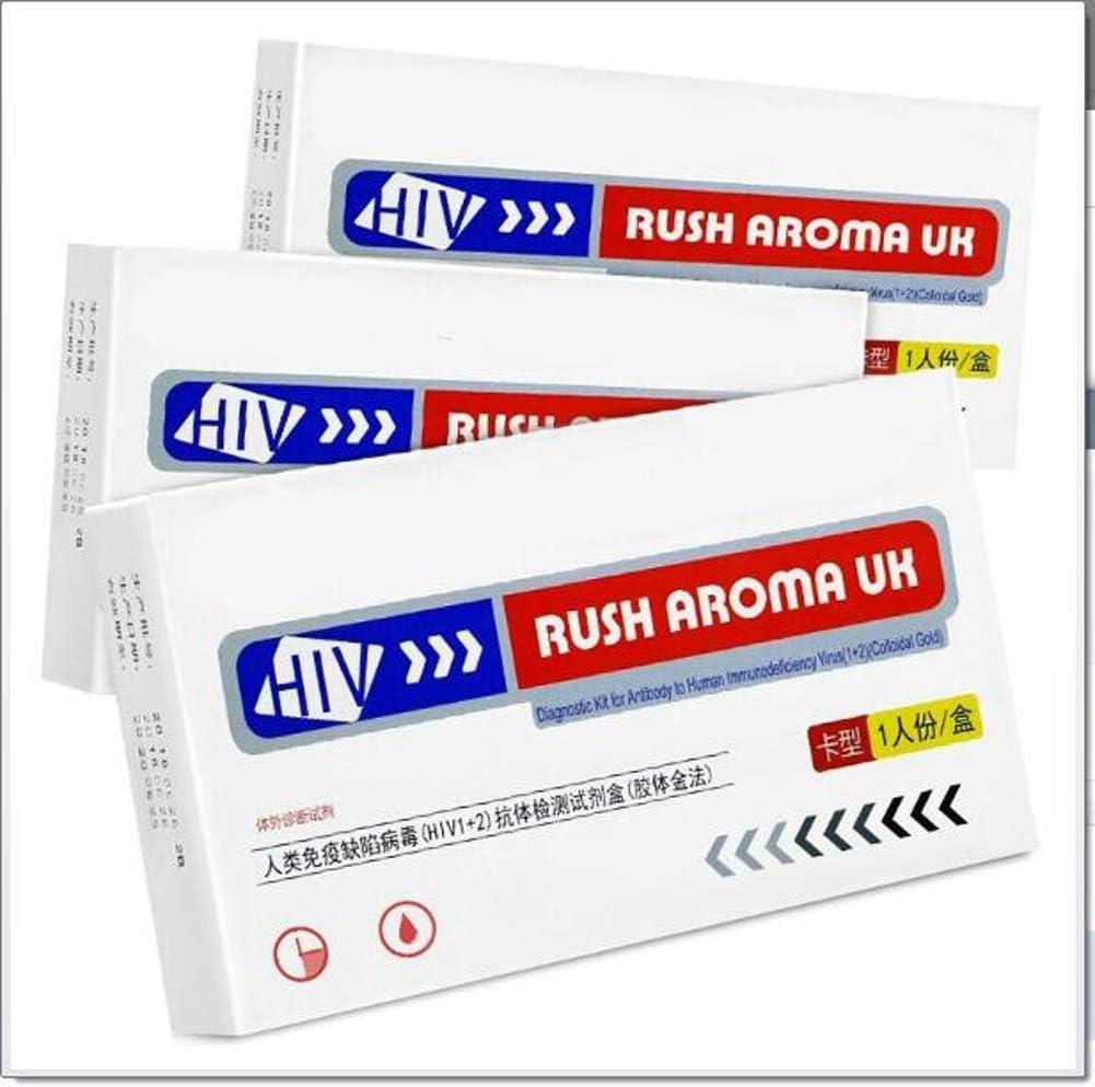 Miwaimao HIV Self Test, Blood Home Test Combination Test Strip Kit, Three-line Test Paper Detection(3 Packs)
