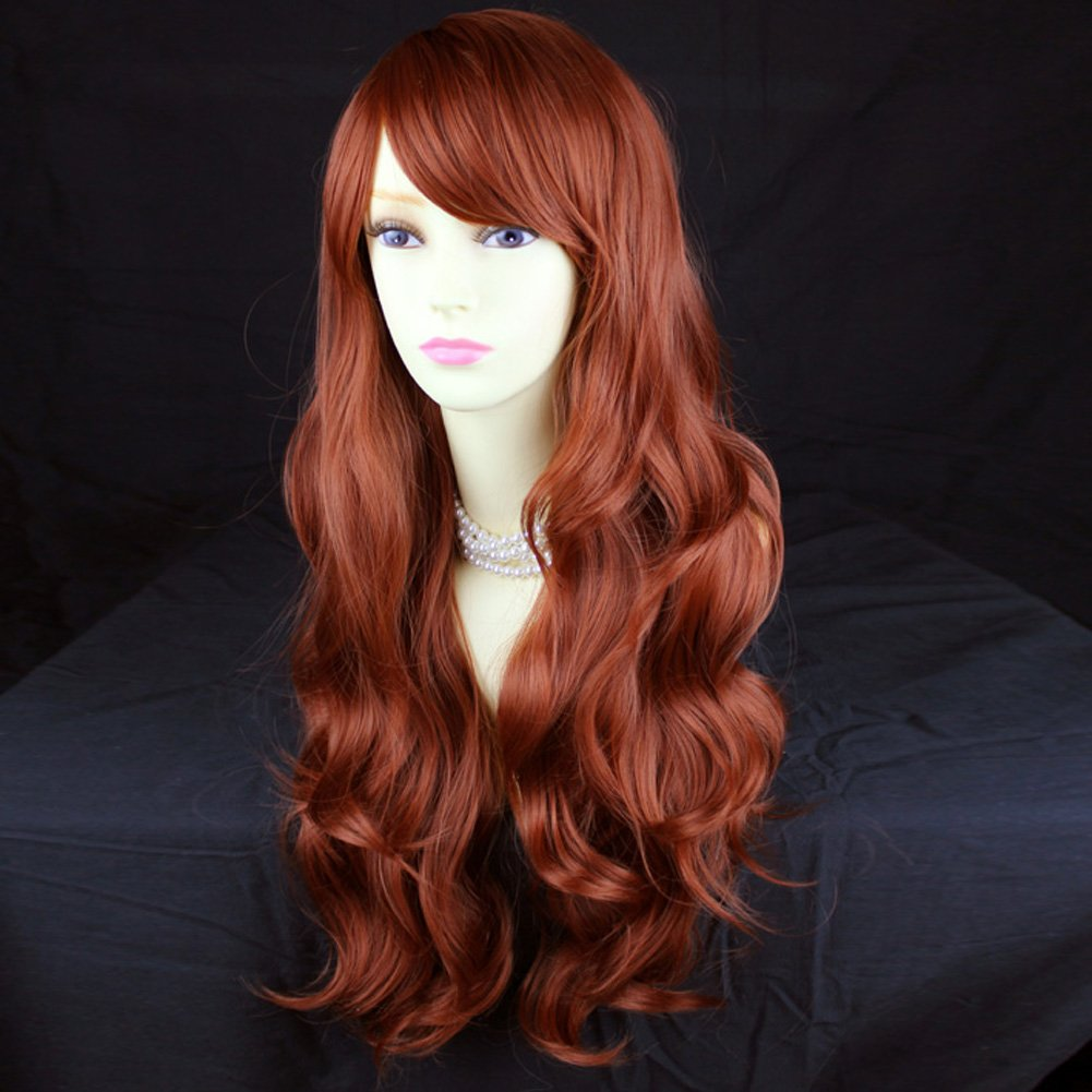 Wonderful Long Layered Wavy Fox Red Ladies Wig from Wiwigs by Wiwigs (Image #2)