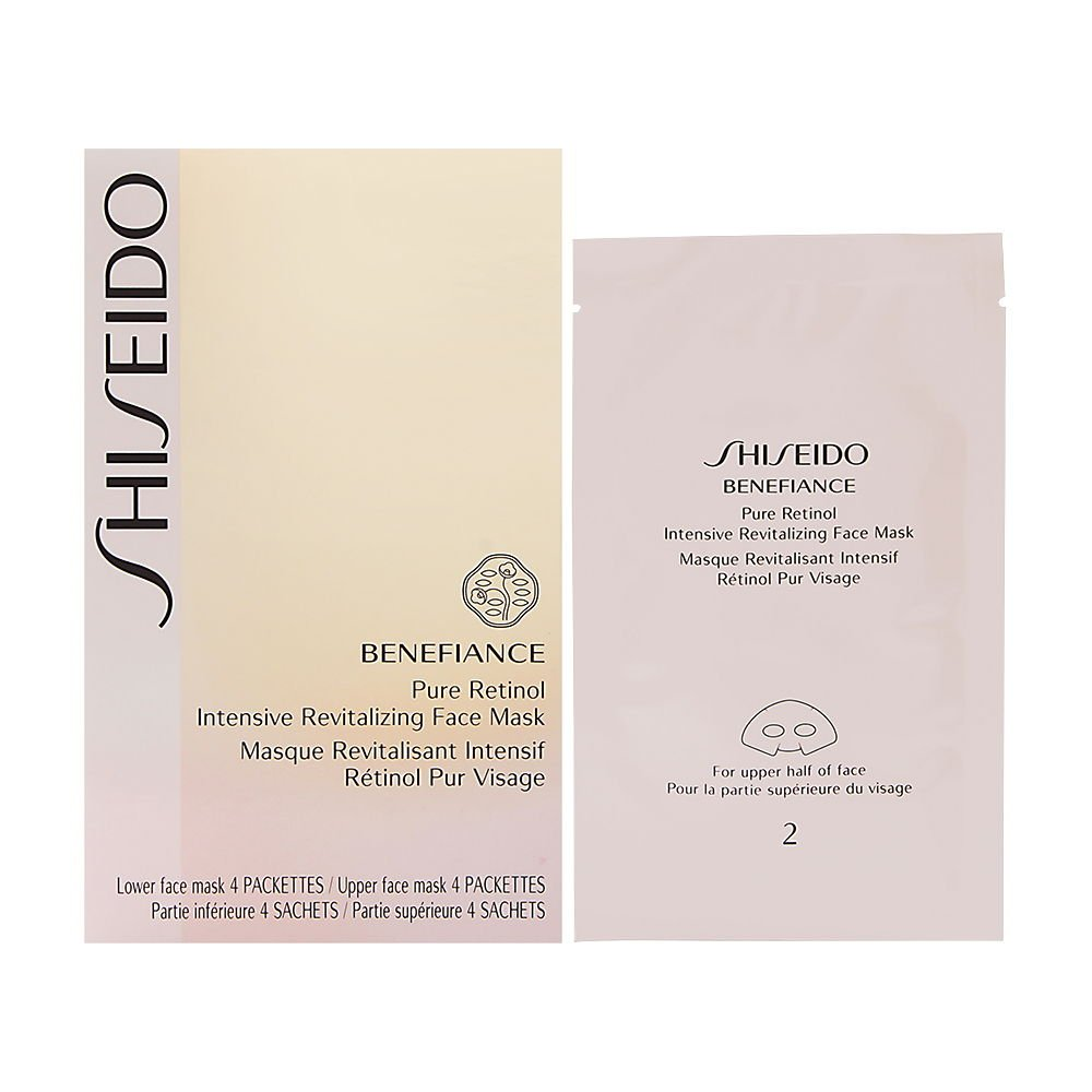 Shiseido Benefiance Pure Retinol Intensive Revitalizing Face Mask, 4 Pairs