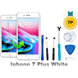 Compatible with iPhone 7 Plus Screen Replacement - LCD Touch Screen Digitizer Frame Assembly Set Free Tool Set Included 5.5 Inch (White)