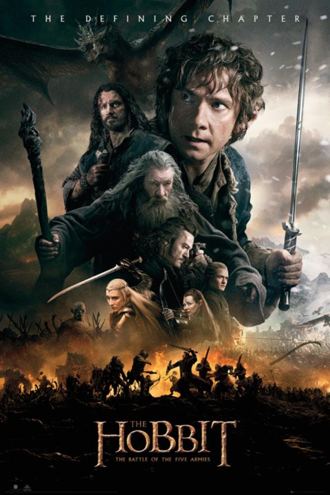 The Hobbit - Battle of Five Armies Fire Poster 24 x 36in