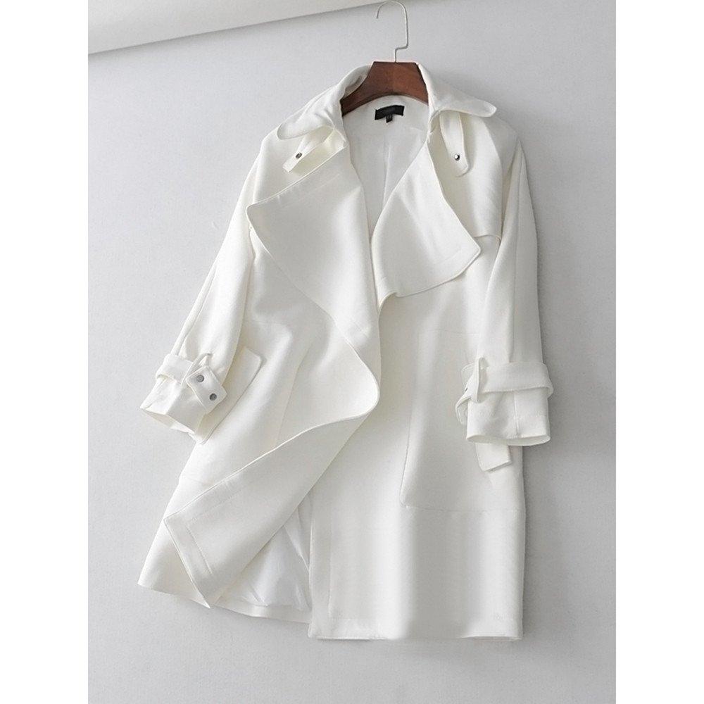 Pugaomsiw außenhandel Kleid Revers locker einfach Winter - Fan in Europa in den Langen Mantel, alle mit Temperament,s,weiße