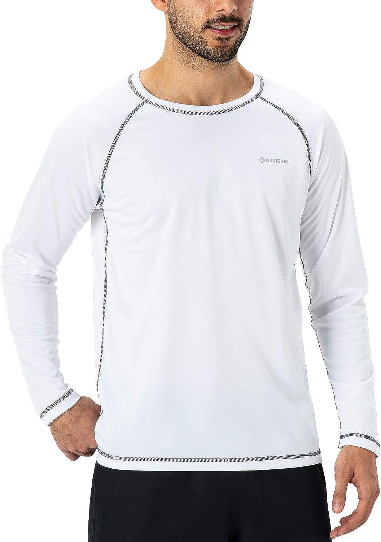 Naviskin Men's Long Sleeve Rash Guard Swim Shirt UPF 50+ UV Sun Protection Quick Dry Outdoor Shirt