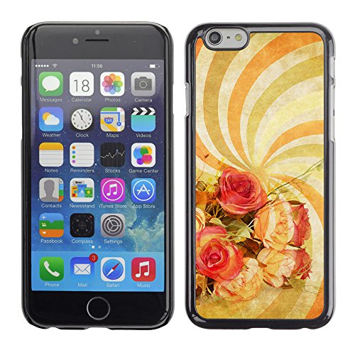 LASTONE PHONE CASE / Coque Housse Etui Shock-Absorption Bumper et Anti-Scratch Effacer Case Cover pour Apple Iphone 6 / Wallpaper Spiral Hypnotic Psychedelic Art Flowers