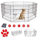 Pet Dog Pen Puppy Cat Rabbit Foldable Playpen Indoor/Outdoor Enclosure Run Cage (Small: Height 61cm)