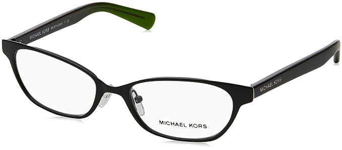 cf0dbb15e97 Amazon.com  Michael Kors Women s 0MK3014 Metal Plastic Black Clear ...