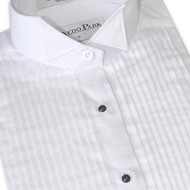 6b243547cb0 Women s Pleated Wing Collar Tuxedo Shirt  Amazon.ca  Clothing ...