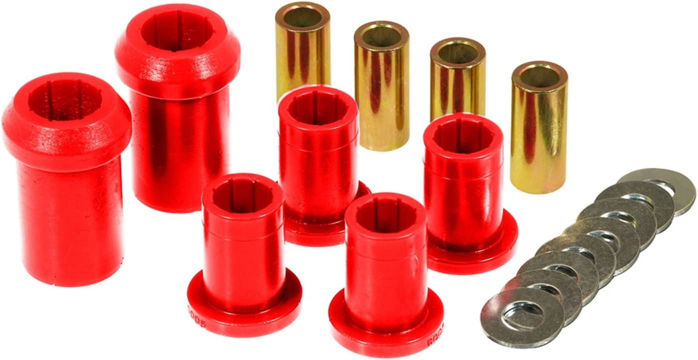 Prothane 4-206 Red Front Upper and Lower Control Arm Bushing Kit