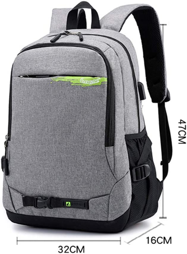 JINGJING Travel Laptop Backpack Profession Business Lightweight Oxford Cloth Waterproof Unisex College Style School Bag,Gray