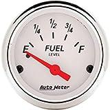 AUTO METER 1318 Arctic White Fuel Level Gauge