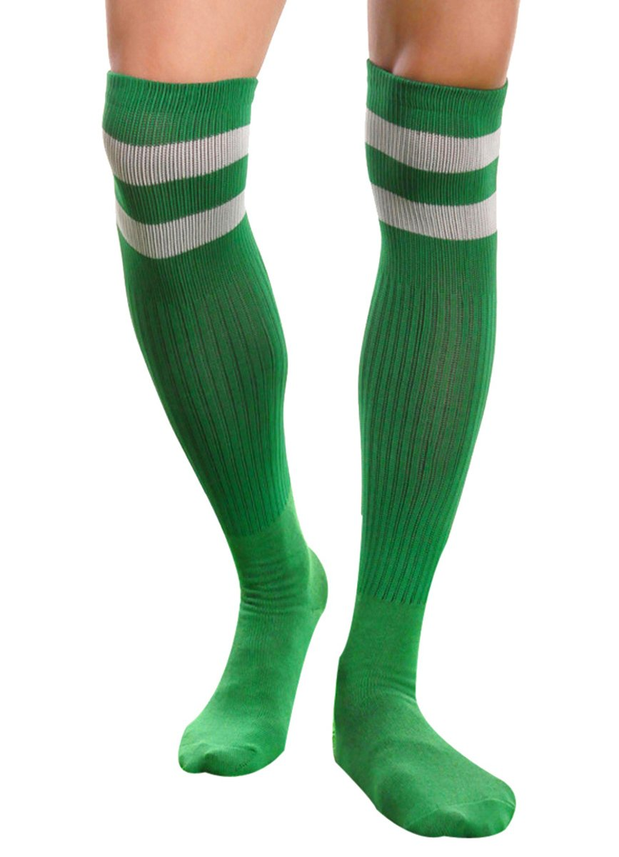 Aniwon Mens Over Knee Socks Soccer Basketball Running Rugby Athletic Socks