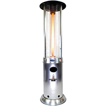 Lava Heat Italia Opus Outdoor Patio Lava Heater, Stainless Steel  (Discontinued By Manufacturer)