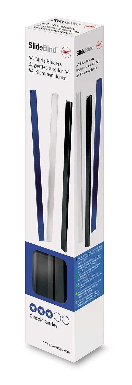 GBC 46010E Dorsi per Rilegatura A4, 10 mm, Nero, 25 Pezzi ACCO Brands