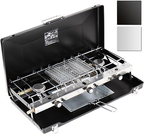 Broil-master – Cocina portátil (cocina para camping) en color negro o plateado