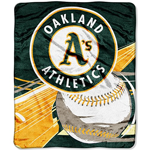 Oakland Athletics Blanket - Officially Licensed MLB Big Stick Raschel Throw Blanket, Bedding, Soft & Cozy, Washable, 50