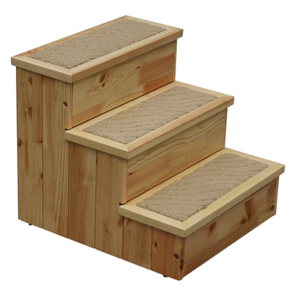Dog Stairs for Medium Dogs for Bed and Couch 3 Step Wood
